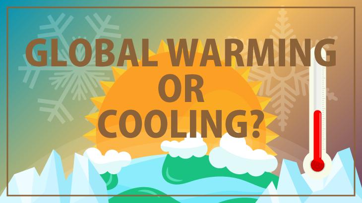 温暖化と寒冷化のイラスト