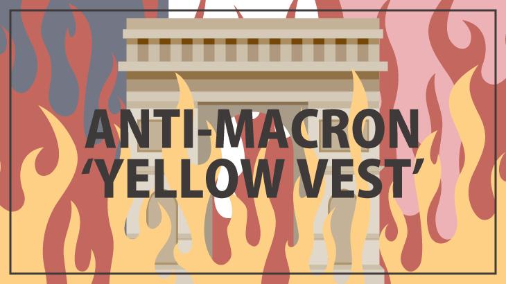 フランス抗議デモのイラスト